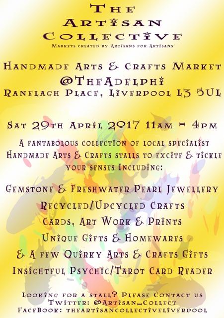 The Artisan Collective - April Handmade Arts & Crafts Market @TheAdelphi