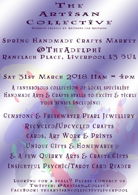 The Artisan Collective - Spring Handmade Crafts Market @TheAdelphi