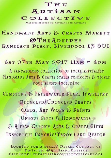 The Artisan Collective - May Handmade Arts & Crafts Market @TheAdelphi
