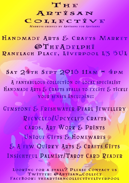 The Artisan Collective - September Handmade Arts & Crafts Market @TheAdelphi