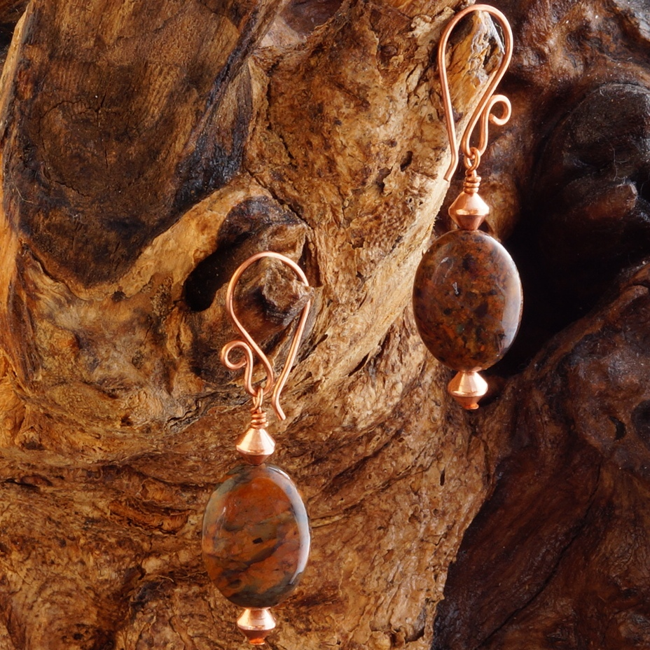 Handmade Copper Tuquoise Earrings