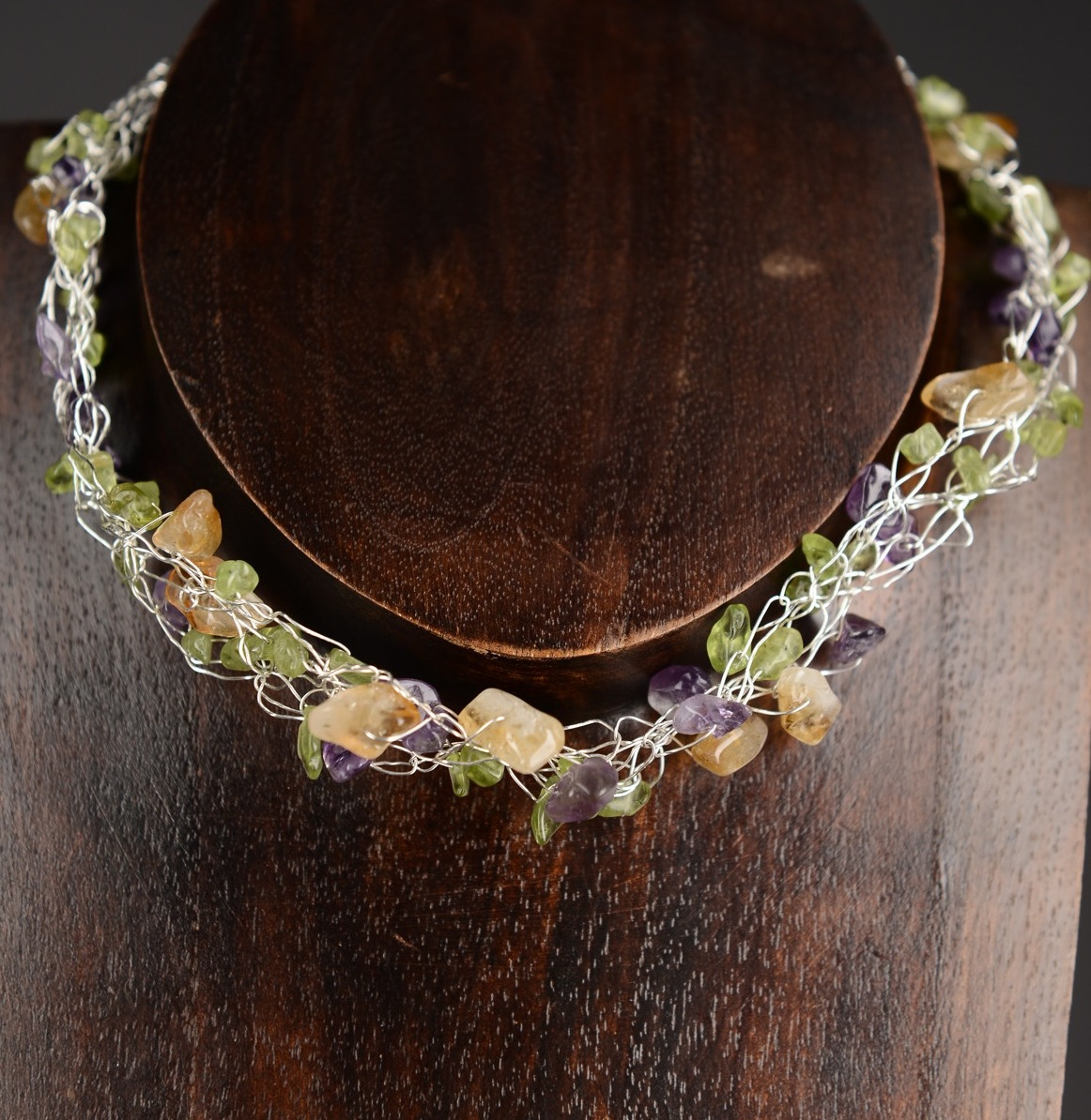 Abundance Crochet Choker Necklace