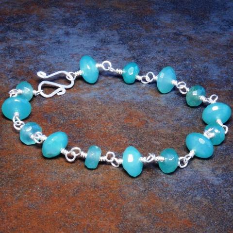 Handmade Sterling Silver Aventurine Bracelet