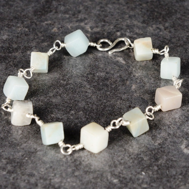 Handmade Sterling Silver Amazonite Bracelet