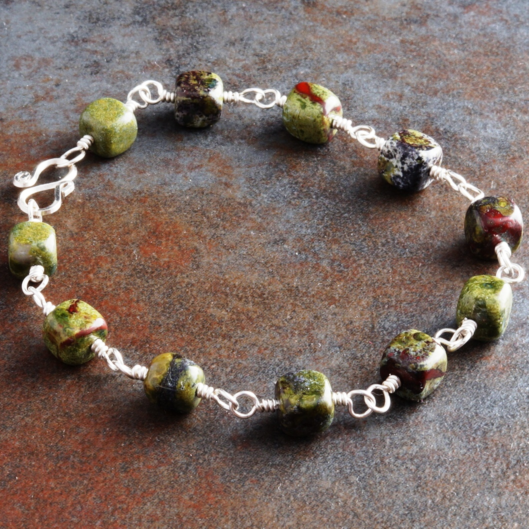 Handmade Sterling Silver Dragons Blood Bracelet