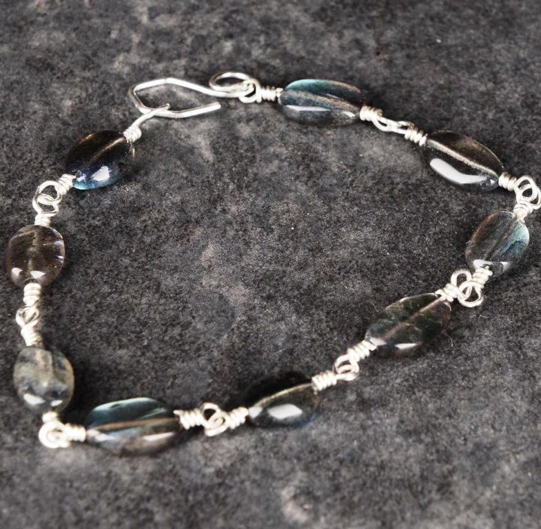 Handmade Sterling Silver Labrodorite Bracelet