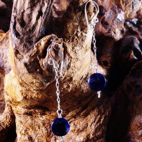 Handmade Sodalite Sterling Silver earrings