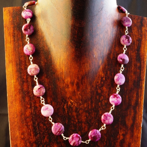 Handmade Sterling Silver Sugilite Coin Choker Necklace