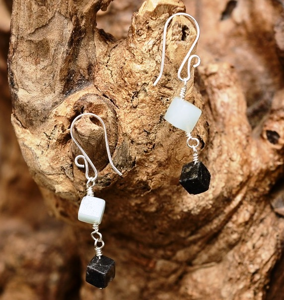 Handmade sterling silver Amazonite Earrings