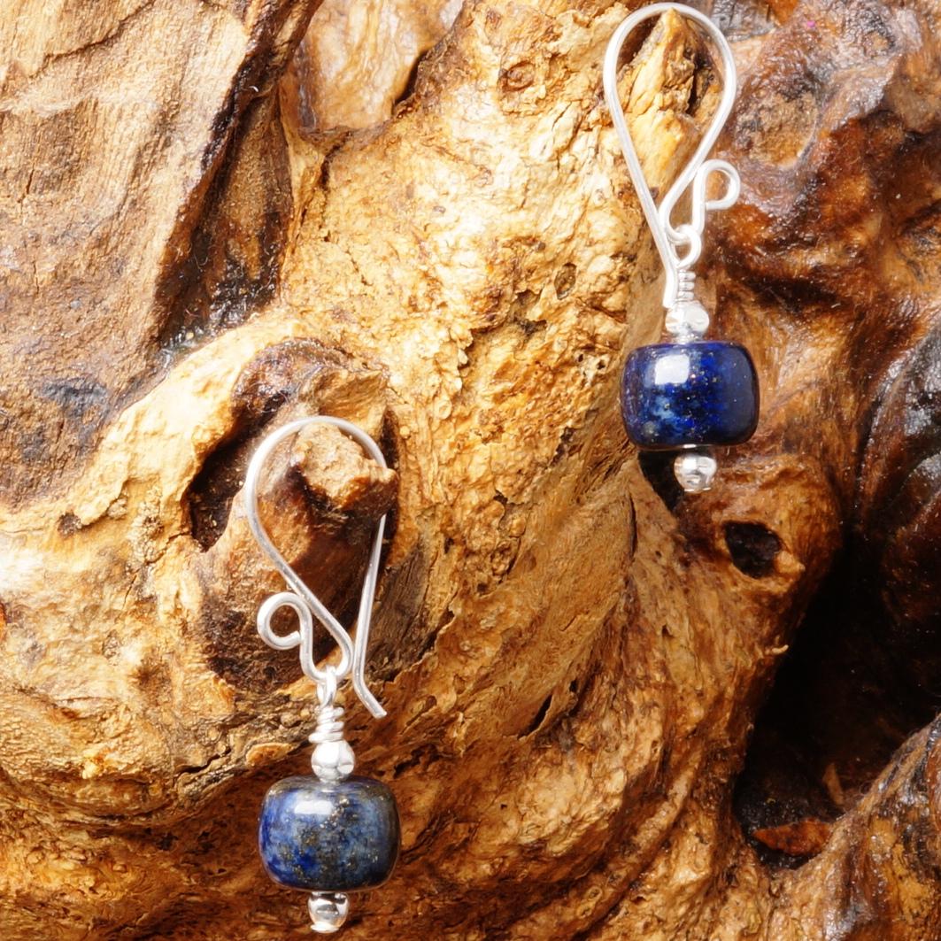 Handmade Sterling Silver Lapis Lazuli Earrings 05