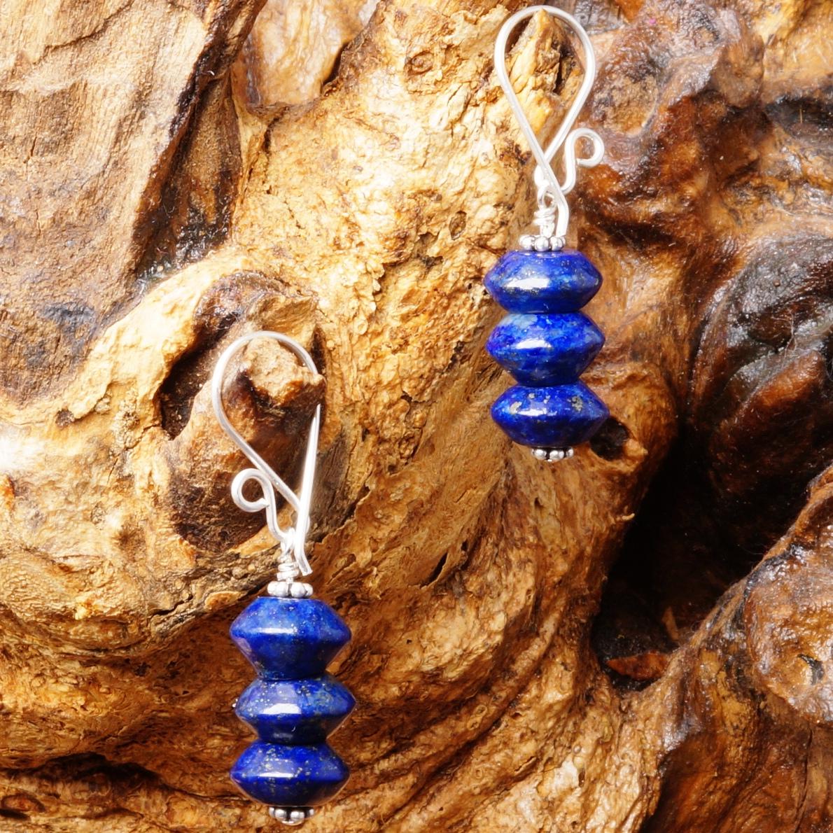 Handmade Sterling Silver Lapis Lazuli Earrings 07