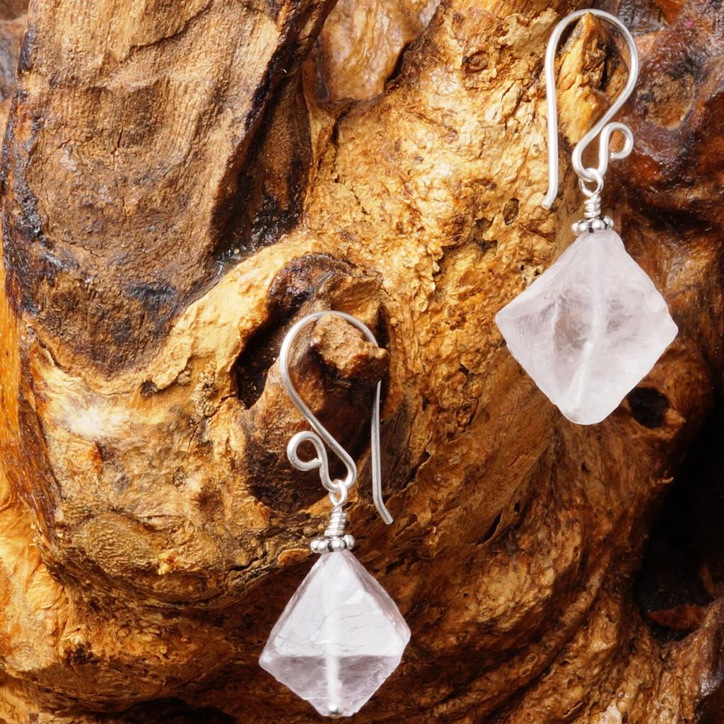 Handmade Sterling Silver Purple Fluorite Earrings 03