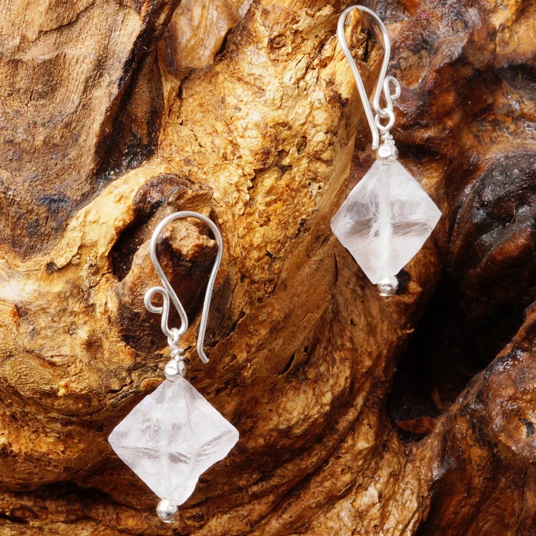 Handmade Sterling Silver Purple Fluorite Earrings 04
