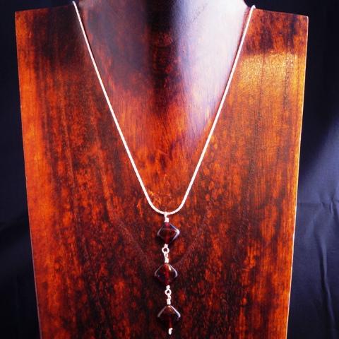 Handmade Sterling Silver Garnet Pendant