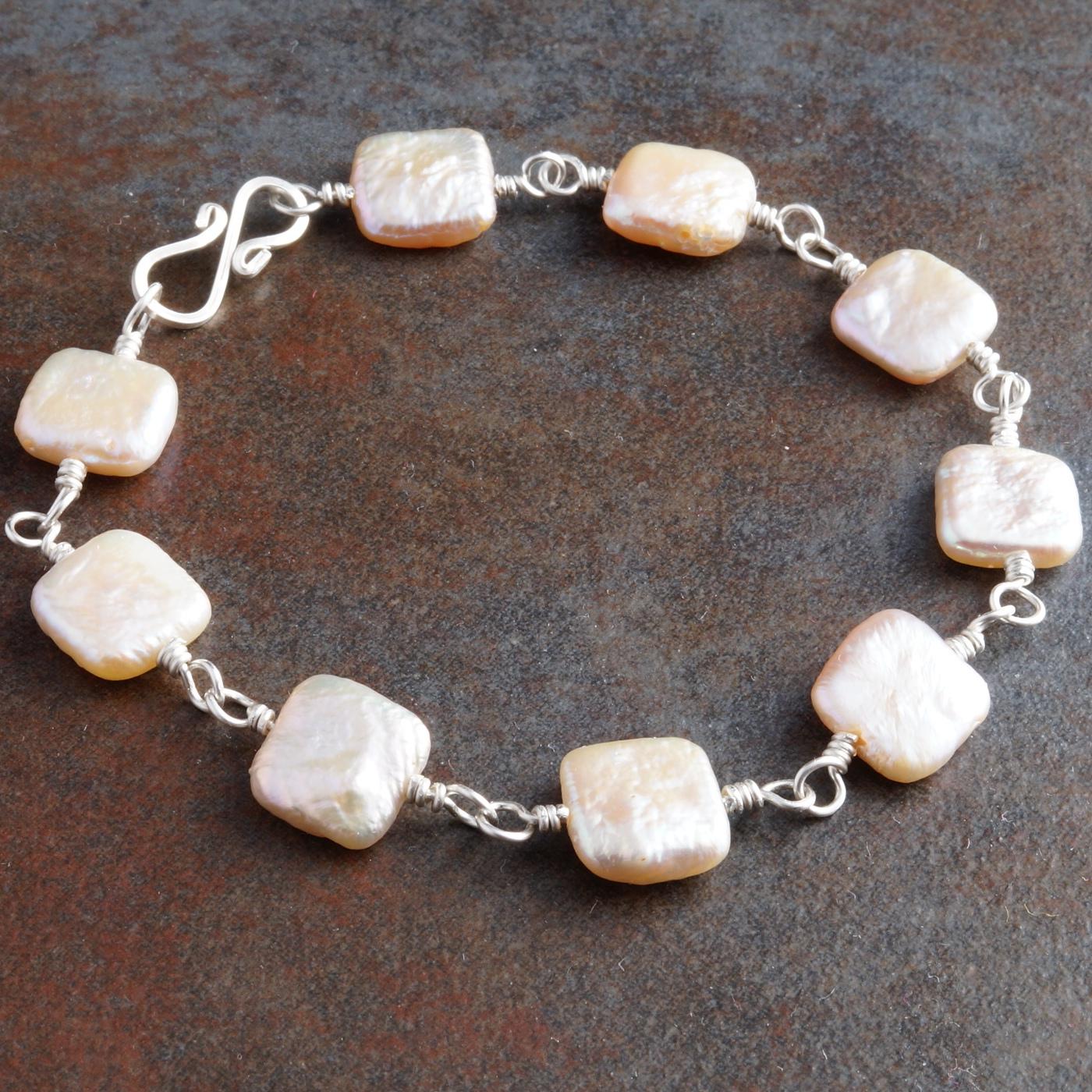 Handmade Sterling Silver Freshwater Pearl Bracelet