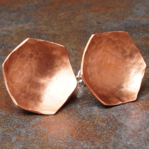 Hexagonal Convexed Textured Copper Studs