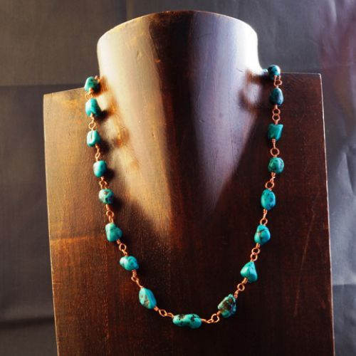 Copper Turquoise Necklace 01 Full View