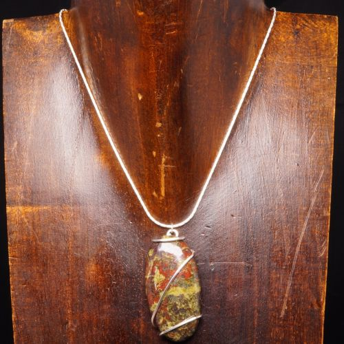 Dragons Blood Jasper Pendant 01 Full View