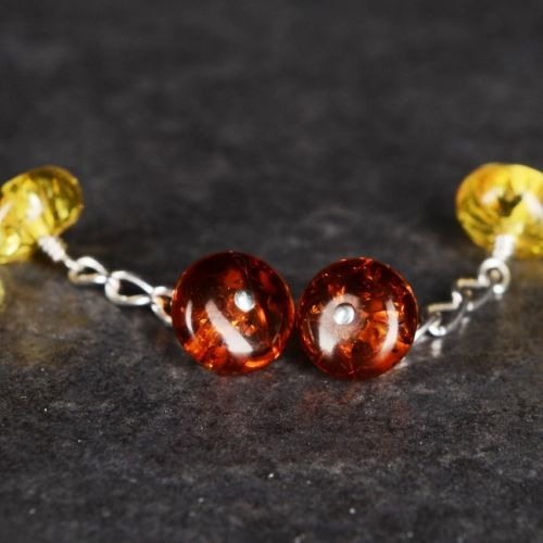 2 Tone Amber Cufflinks 01 Full View