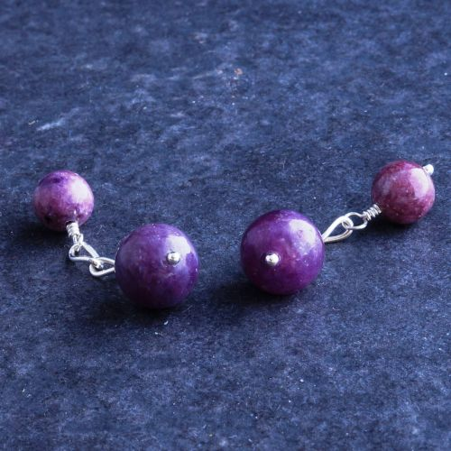 Lepidolite Cufflinks 01 Full View