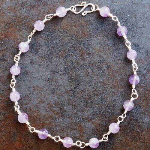 Amethyst Anklet 01 Full View