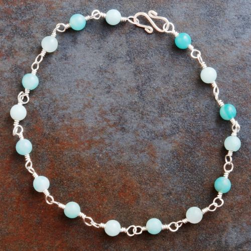 Amazonite Anklet 01 Full View