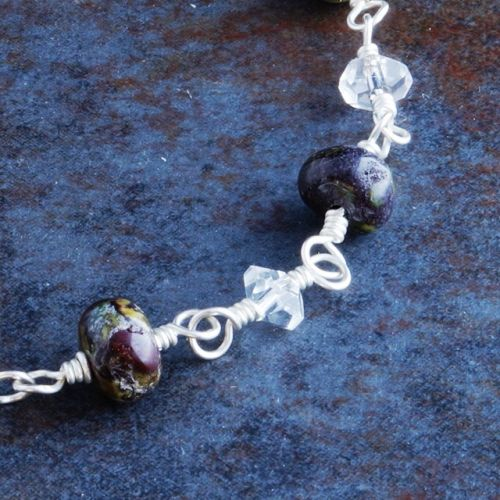 Bloodstone Quartz Anklet Closeup