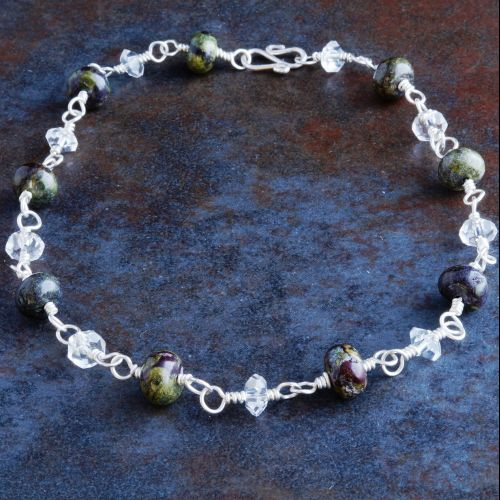 Bloodstone Quartz Anklet Full View