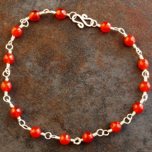 Fire Carnelian Anklet 01 Full View