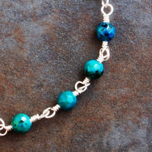 Chrysocolla Anklet 01 Closeup