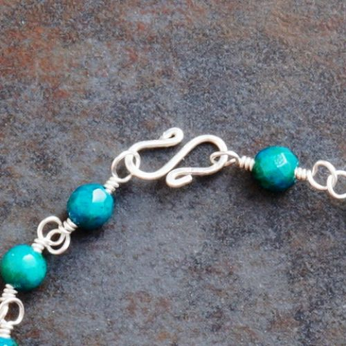 Chrysocolla Anklet 01 Clasp