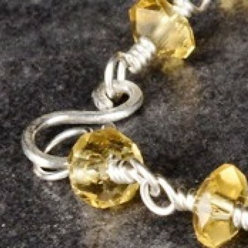 Faceted Citrine Anklet 01 Clasp