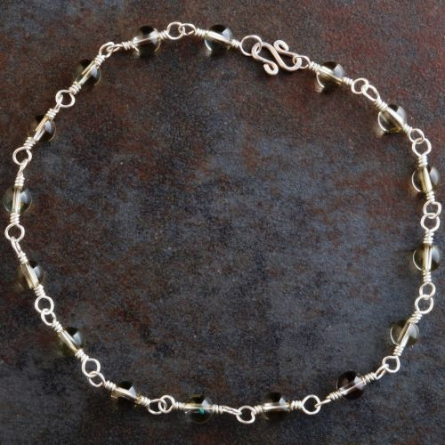 Smokey Yellow Quartz Anklet 01 Full View