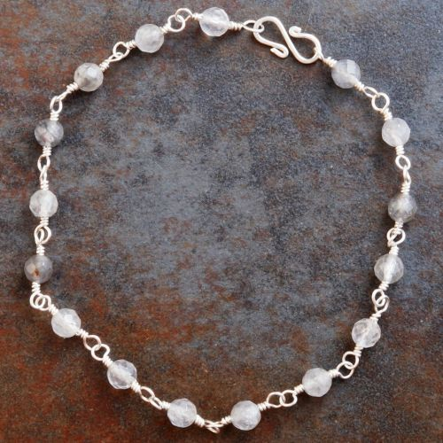 Silver Rutilated Quartz Anklet 01 Full View
