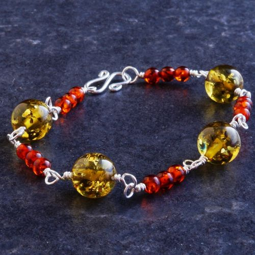 Tribal Amber Bracelet 01 Full View