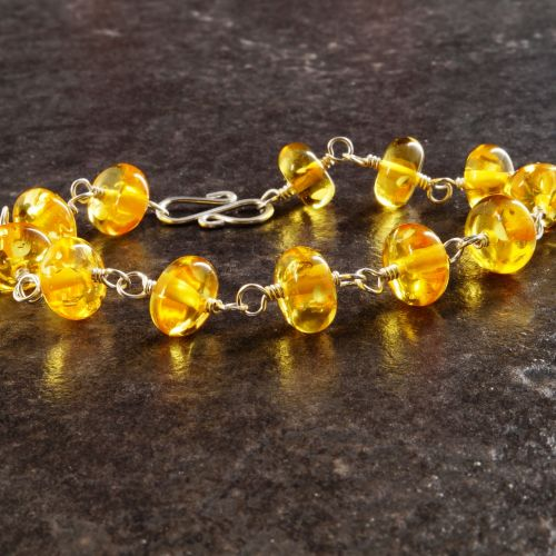 Yellow Amber Bracelet 01 Full View
