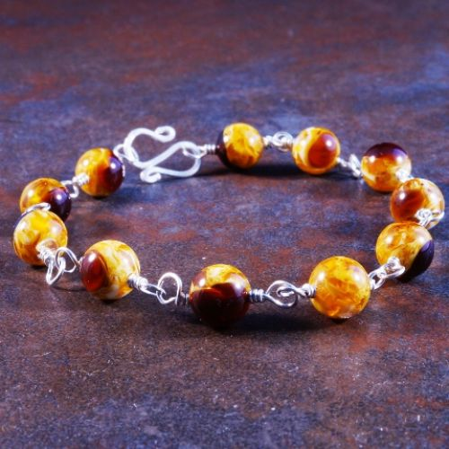 Antique Amber Bracelet 04 Full View