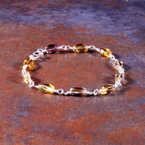 Twisted Ametrine Bracelet 02