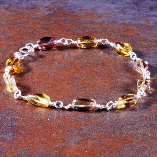 Twisted Ametrine Bracelet 02 Full View