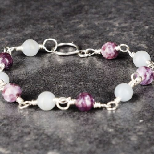Angelite Lepidolite Bracelet 01 Full View