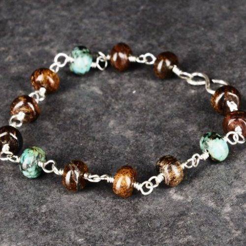 Bronzite and African Turquoise Bracelet 01 Full View