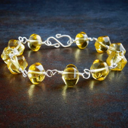 Pumpkin Citrine Bracelet 01 Full View