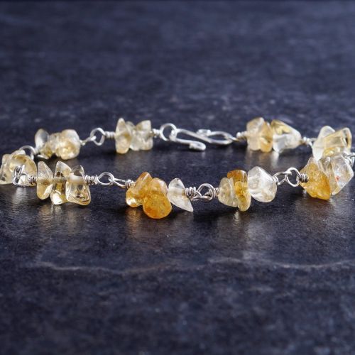 Citrine Chip Bracelet 01 Full View