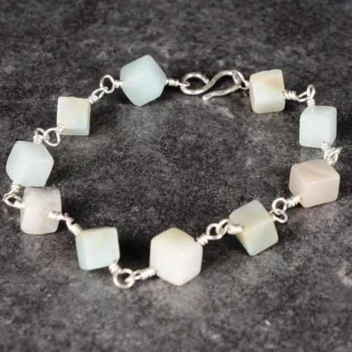 Cubed Amazonite Bracelet 01 Full View