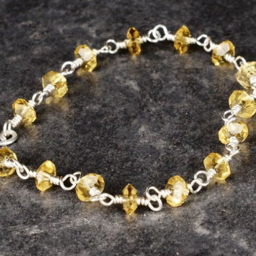 Faceted Citrine Bracelet 01 Full View