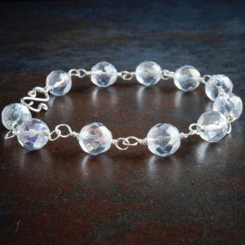 Faceted Quartz Bracelet 01 Full View