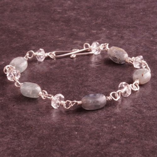 Kyanite Quartz Bracelet 01 Full View