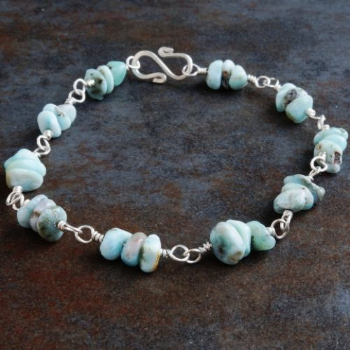 Larimar Chip Bracelet 01 Full View