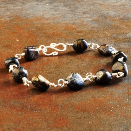 Pietersite Nugget Bracelet 02 Full View