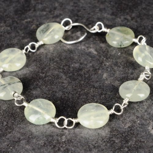Prehnite Bracelet 01 Full View